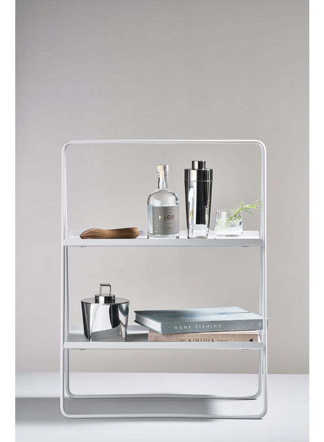 warm grey side table A-table