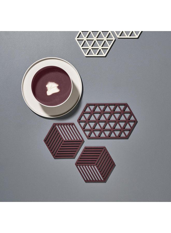 hexagonal raisin color coaster