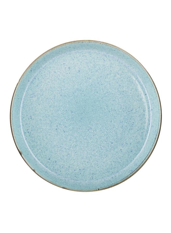 bord grijs/lichtblauw, 27 cm doorsnede
