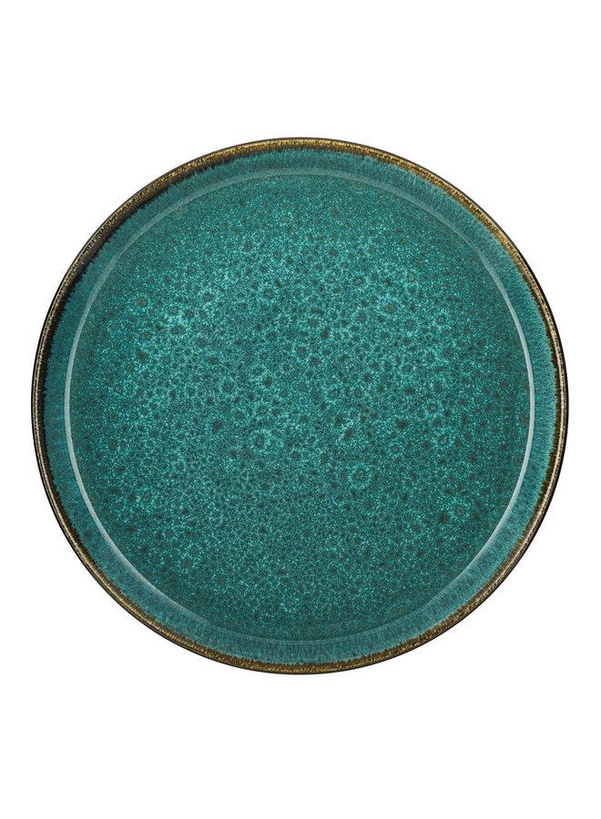 green dinner plate, 27 cm diameter