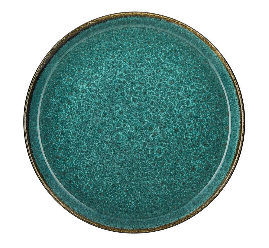 grüner Essteller, 27 cm Durchmesser