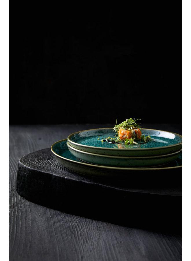 Bitz groen dinerbord, 27 cm doorsnede