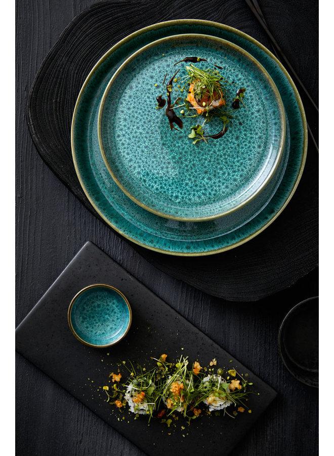 Bitz green dinner plate, 27 cm diameter