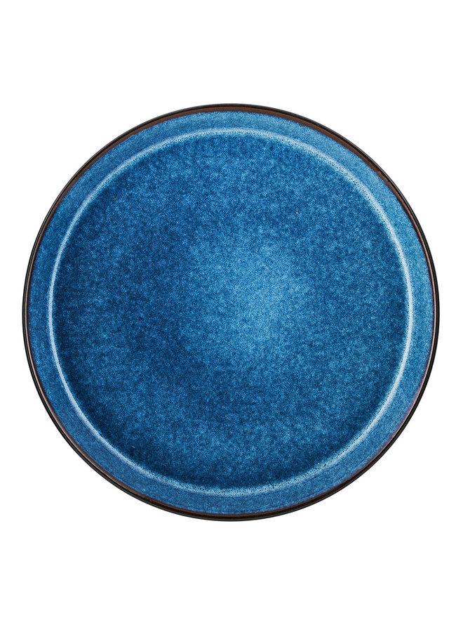 Bitz zwart/donkerblauw dinerbord, 27 cm doorsnede