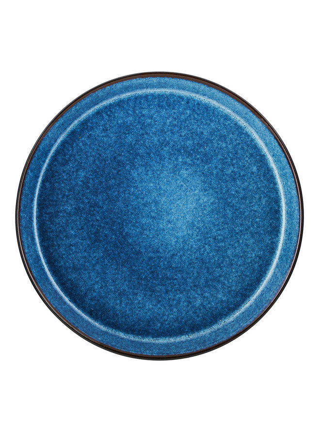 zwart/donkerblauw dinerbord, 27 cm doorsnede