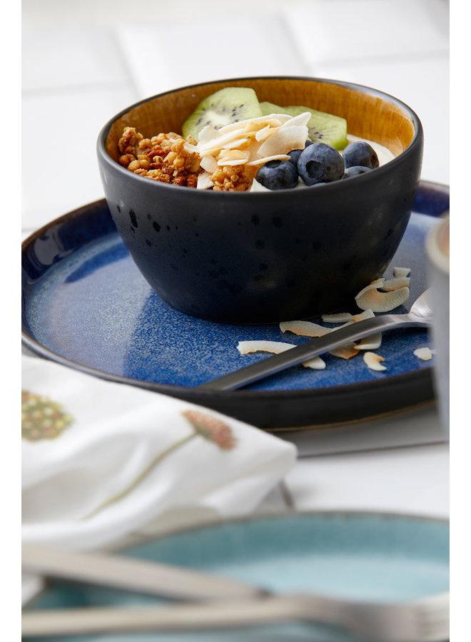 black / dark blue dinner plate, 27 cm diameter