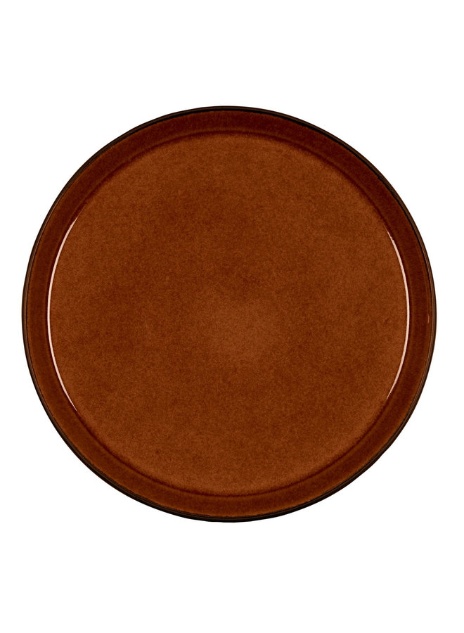 plate black / amber, 27 cm diameter