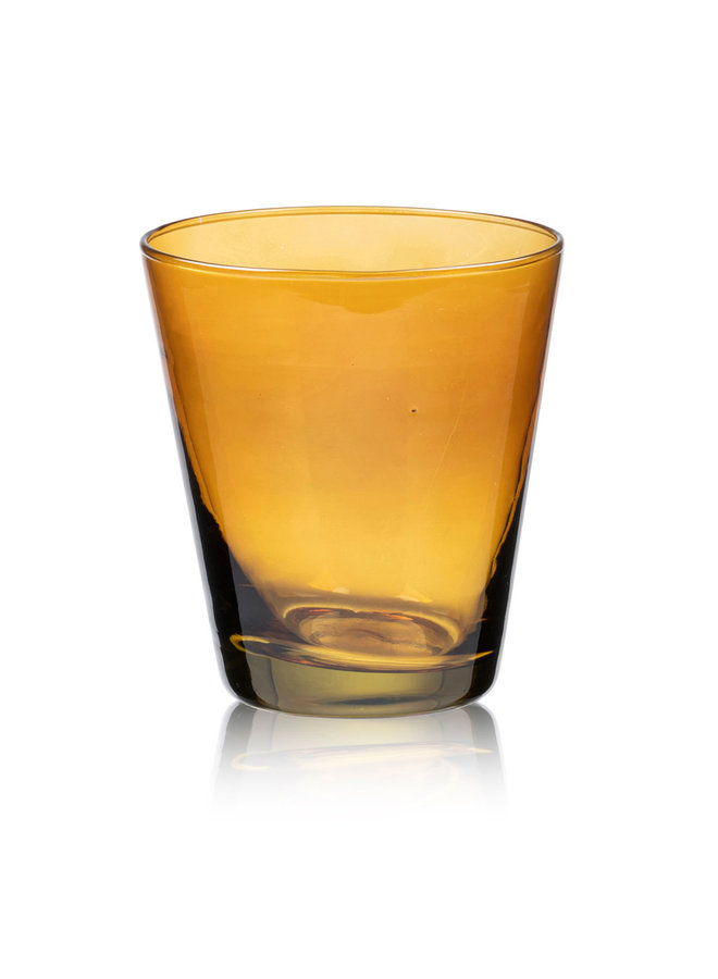 Bitz 30 cl water glass in amber