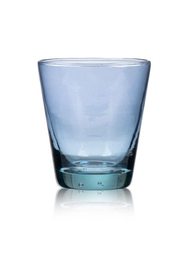 waterglas blauw