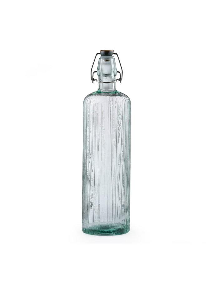 glass water bottle green, 1.2 liters