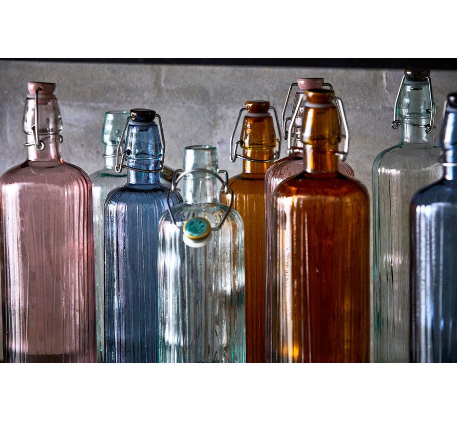 Glas Wasserflasche grün, 1,2 Liter