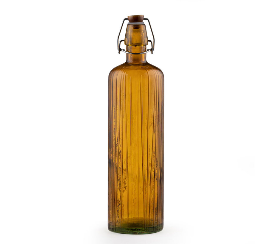 glass water bottle of amber, 1.2 liters