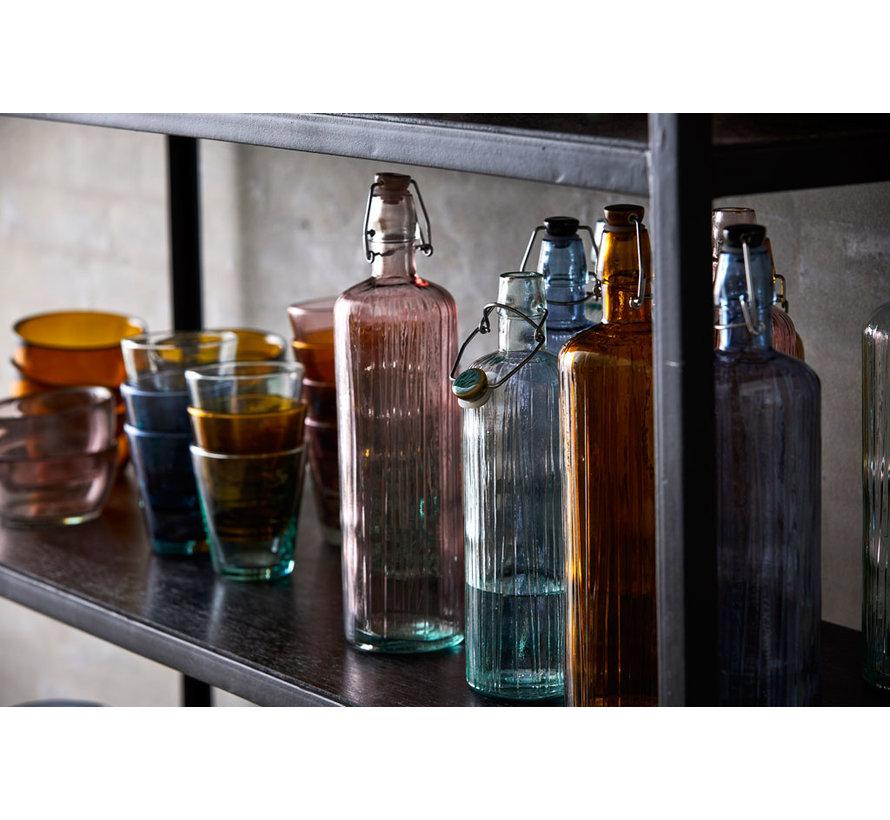 Glaswasserflasche Bernstein, 1,2 Liter