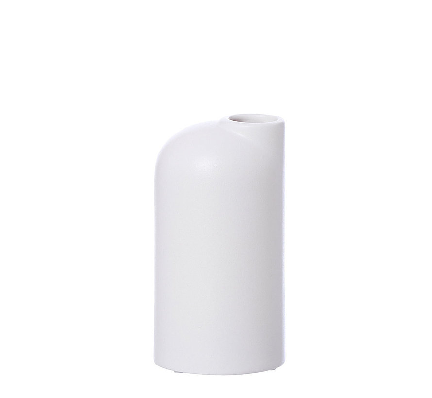 white ceramic vase Anna small
