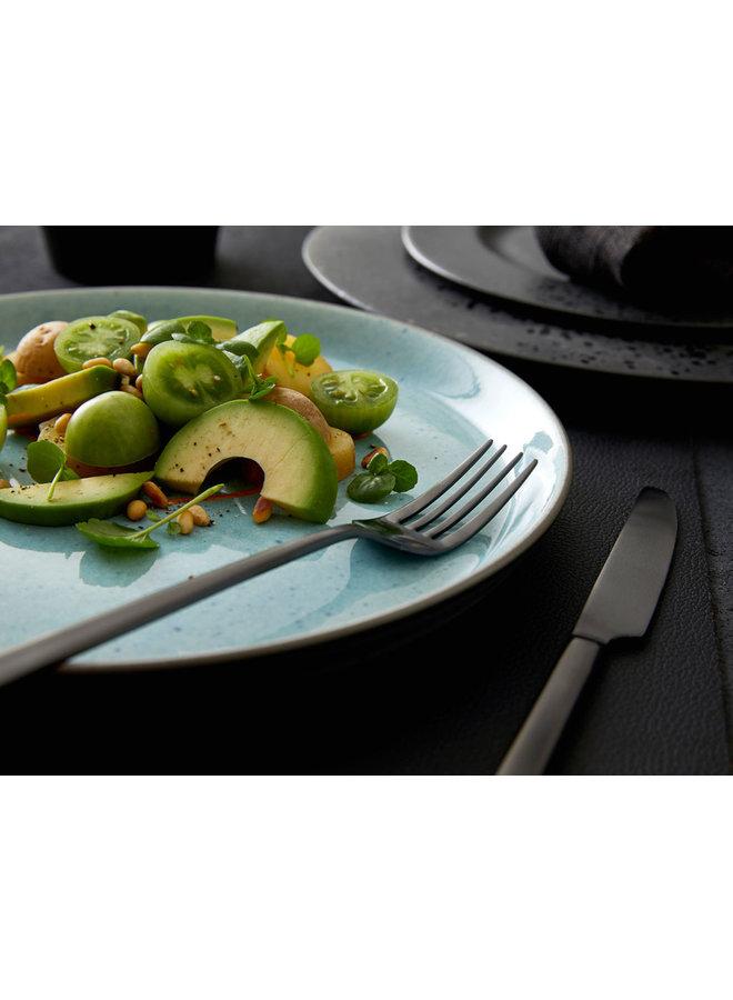 Bitz grey / light blue dinner plate, 27 cm diameter