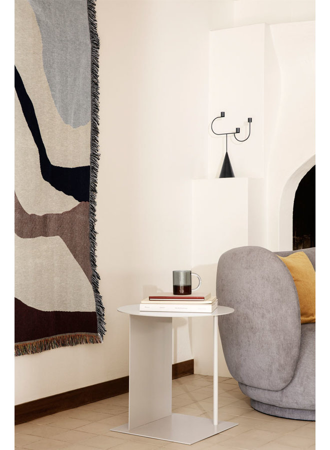 Ferm Living plaid vista with abstract patterns in off-white and earth tones