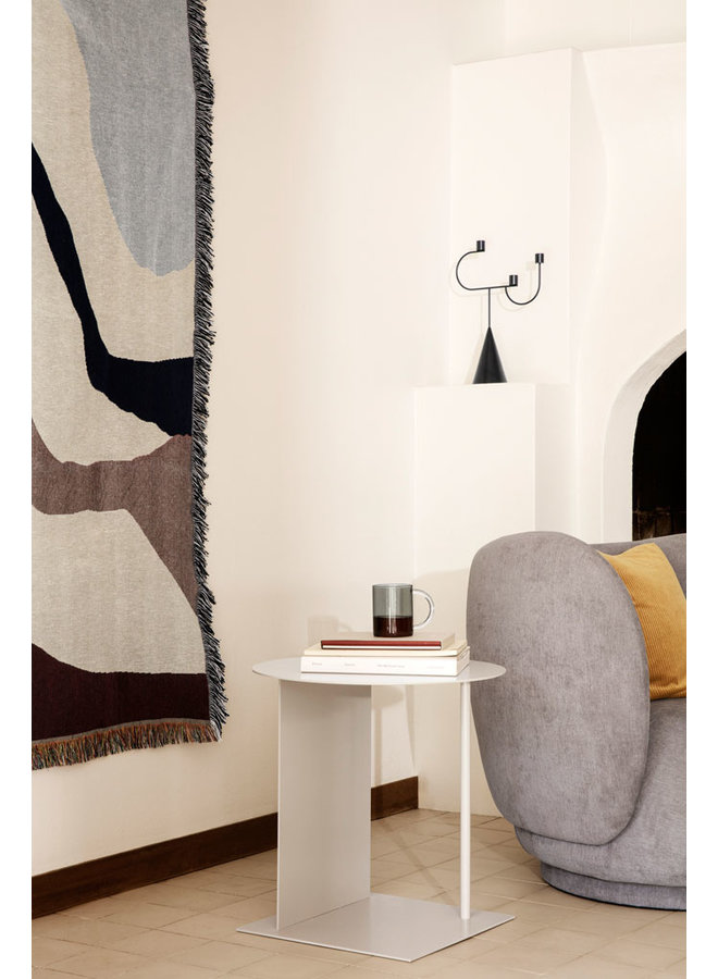 Ferm Living candlestick Candelabra black with cone foot and three candle holders