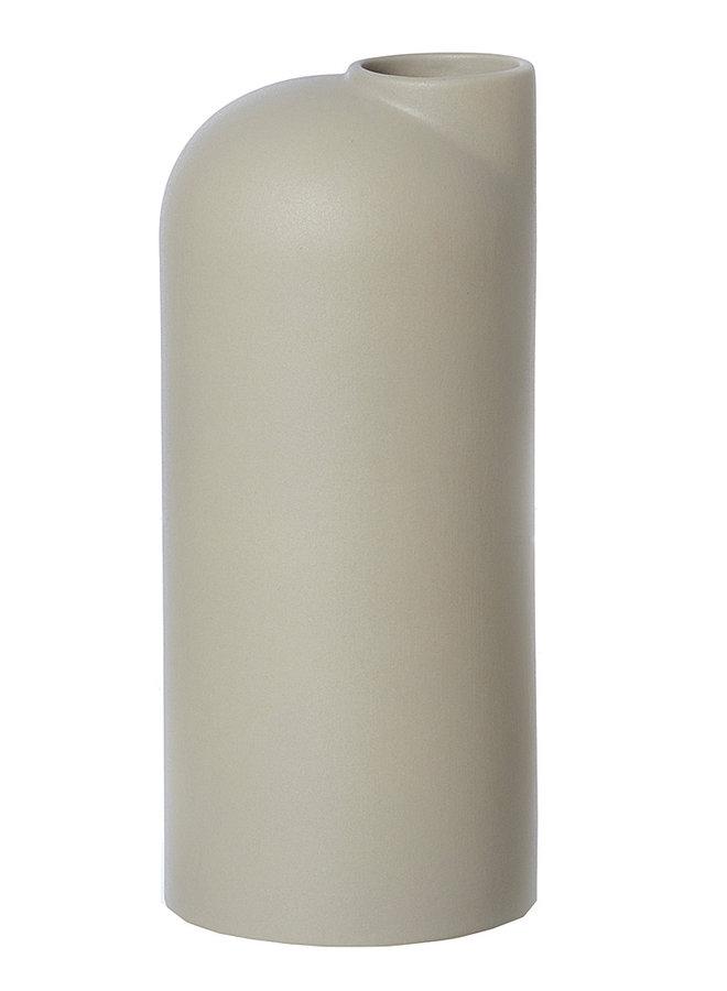 beige/sand ceramic vase Anna large