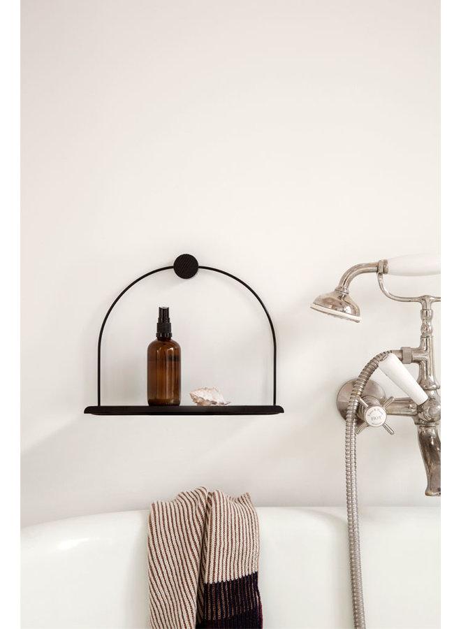 Ferm Living metalen zwarte wandplank badkamer