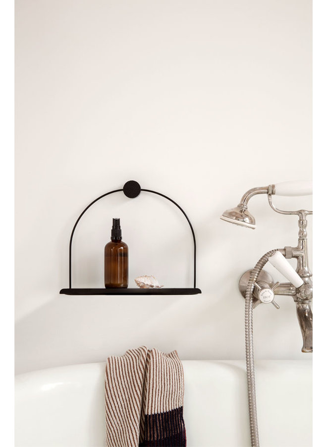 metal black wall shelf bathroom