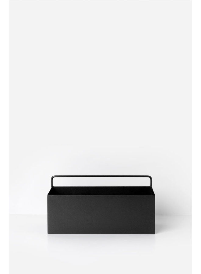metal black wallbox oblong