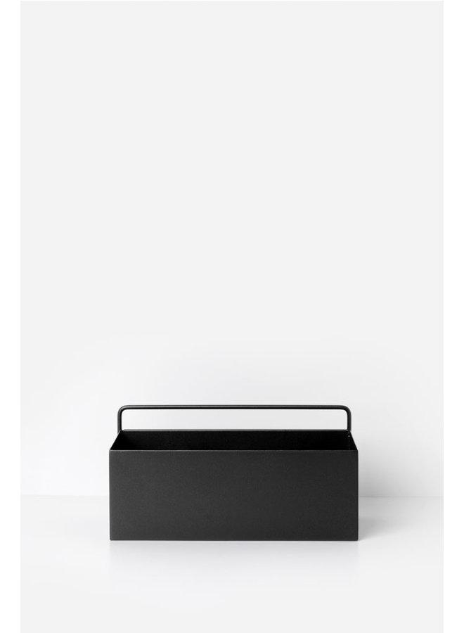 zwarte wall box langwerpig
