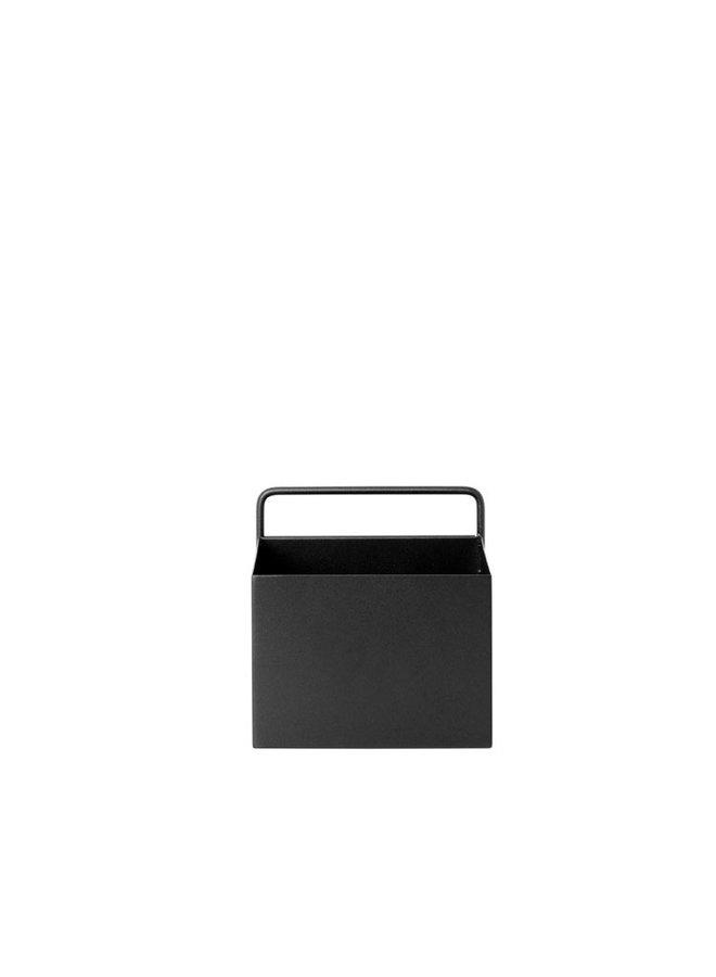 metal black wall box square