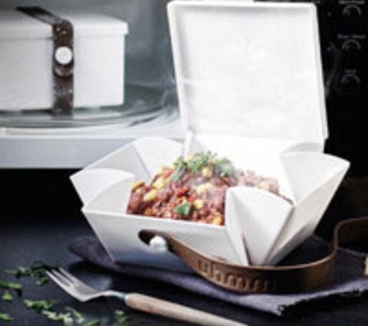 Uhmm Box hip Lunchbox, die Sie immer wieder falten und verwenden können
