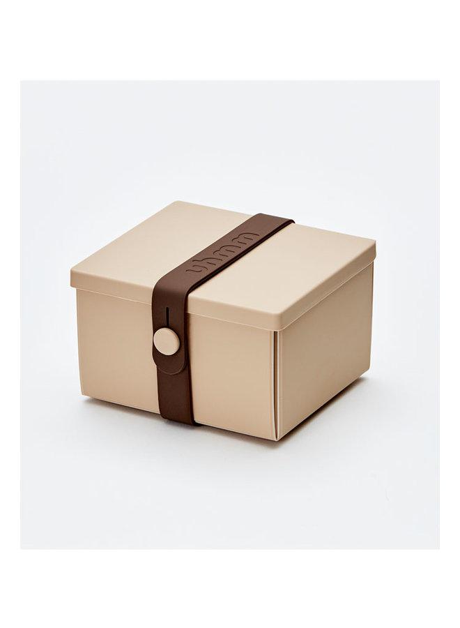 lunchbox 02 in mokka met bruine strap