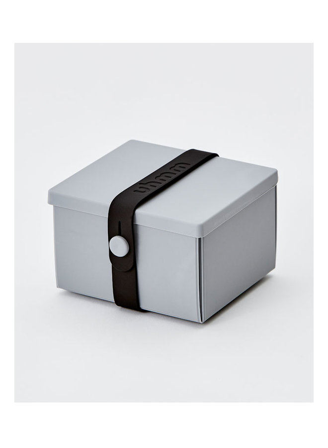 lunchbox 02 in grijs met zwarte strap