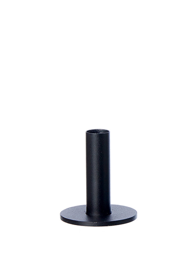 Oohhx black candlestick made of powder-coated steel, 9 cm high