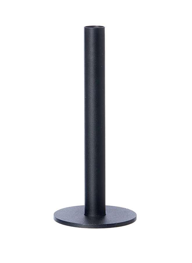 black candlestick made of powder-coated steel, 23 cm high