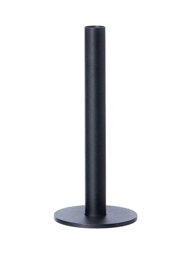 Oohhx zwarte kandelaar van gepoedercoat staal, 23 cm hoog