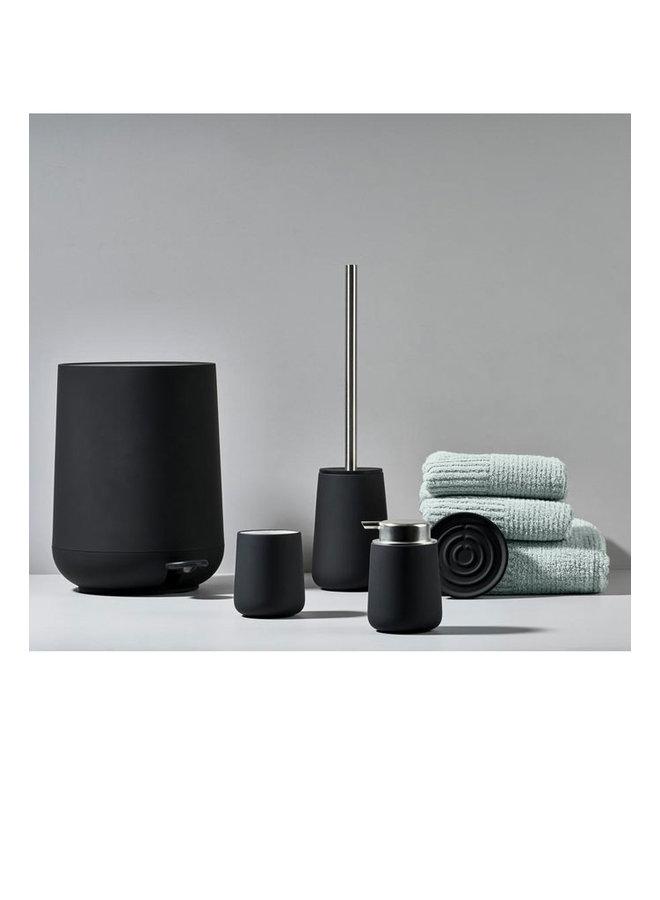 Zone Denmark black ceramic toothbrush holder from the Nova series