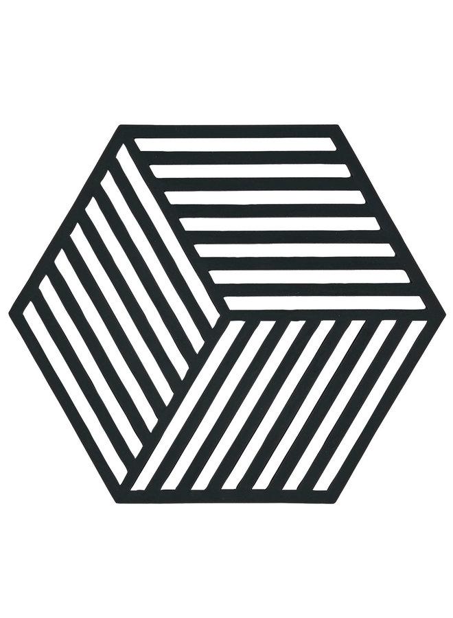 coaster Hexagon black
