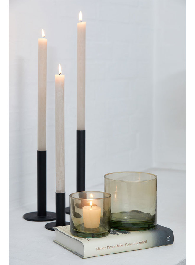 Oohhx black candlestick made of powder-coated steel,18 cm high