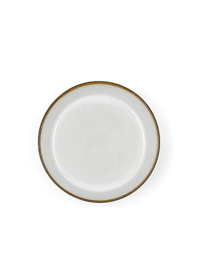 Bitz keramische graue Suppenschüssel mit Weiß nach innen