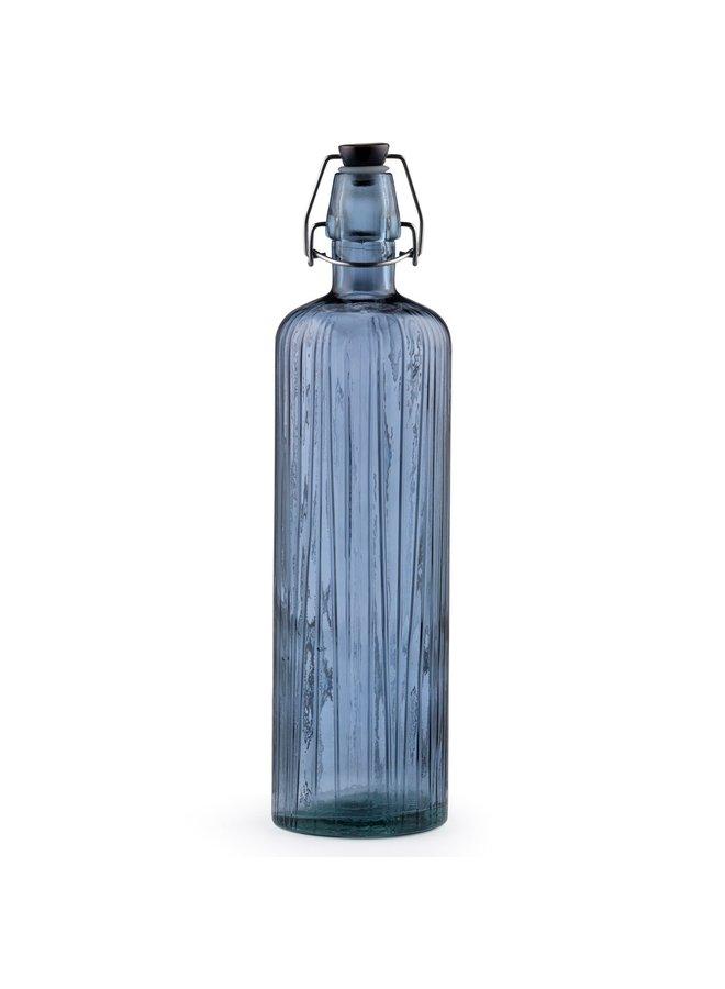Bitz glass water bottle blue,1.2 liters