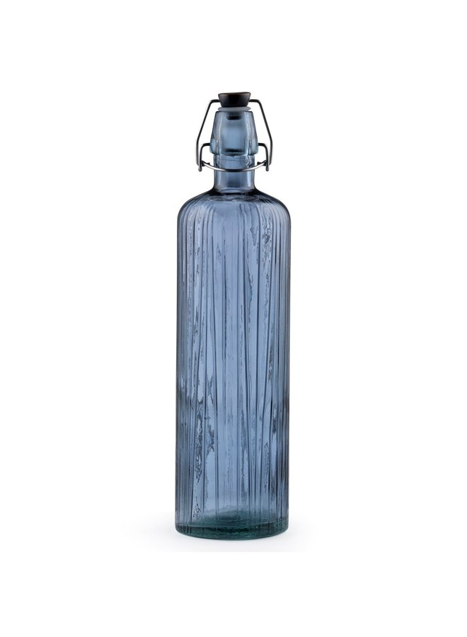 water bottle blue with ceramic cap