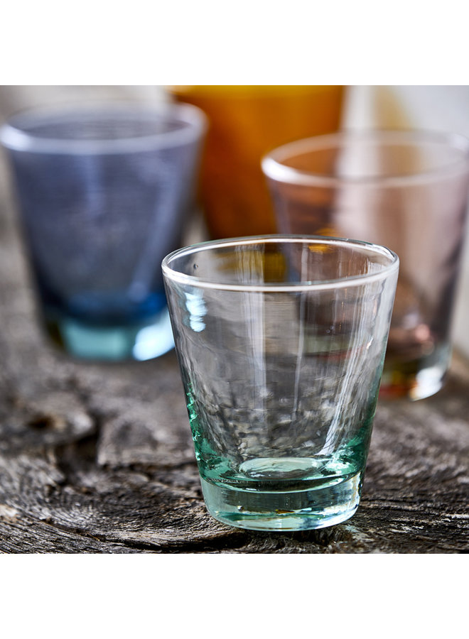 Bitz 30 cl green water glass, made from recycled glass