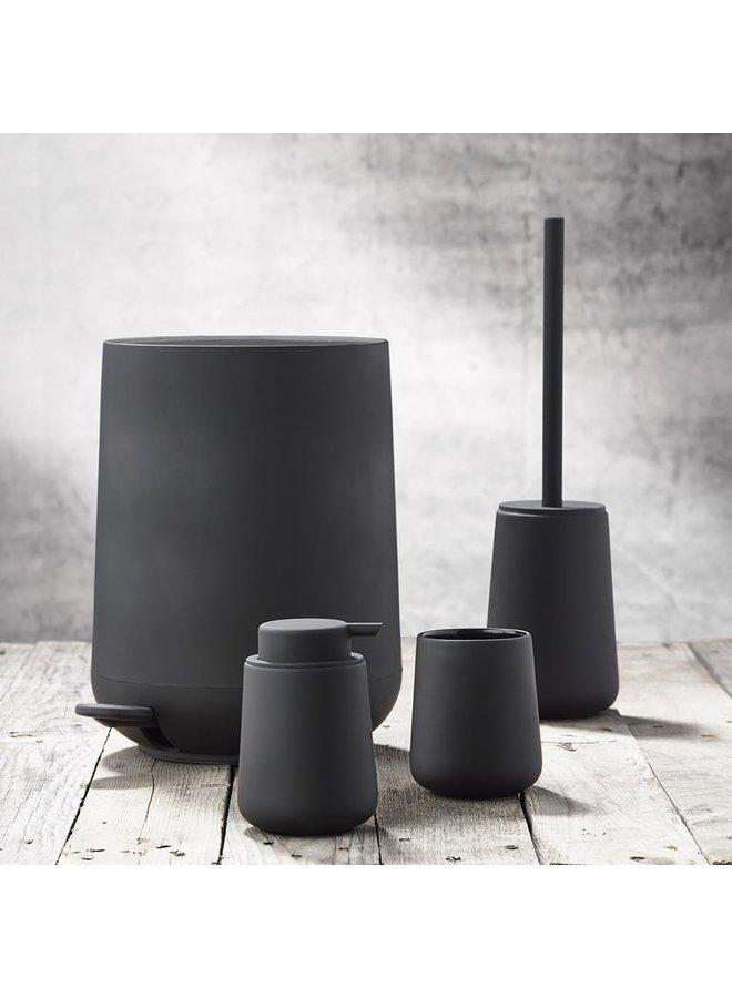 Zone Denmark zwarte porseleinen toiletborstel Nova met soft touch