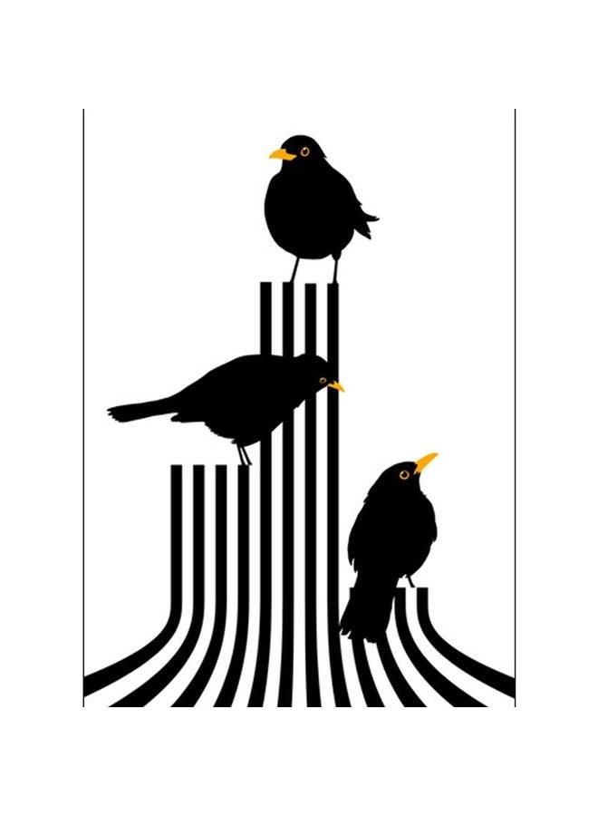 poster vogels op het podium