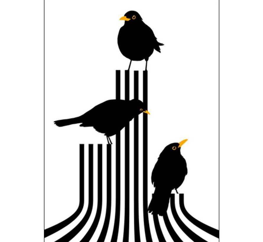 poster Vögel auf dem Podium