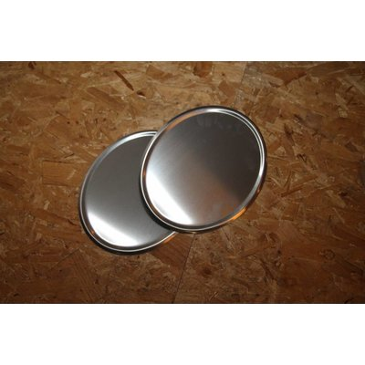 Plaque d'immatriculation ovale en acier faite à la main