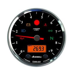 CA085 12.000 tr/min Indicateur de vitesse Noir/Noir