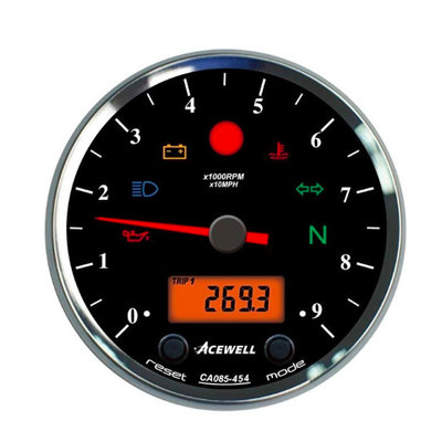 Acewell CA085 12.000RPM Teller Zwarte Behuizing en Zwarte Wijzerplaat