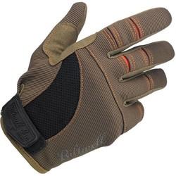 Moto Gloves - Brown/Orange
