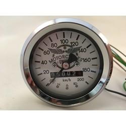 Compteur kilométrique chromé BMW 60MM + 4 fonctions