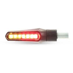 LED Shorty Fin Blinker & Rücklicht Combinatie