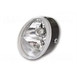 Universal Scheinwerfer OVAL mit Standlicht, schwarz
